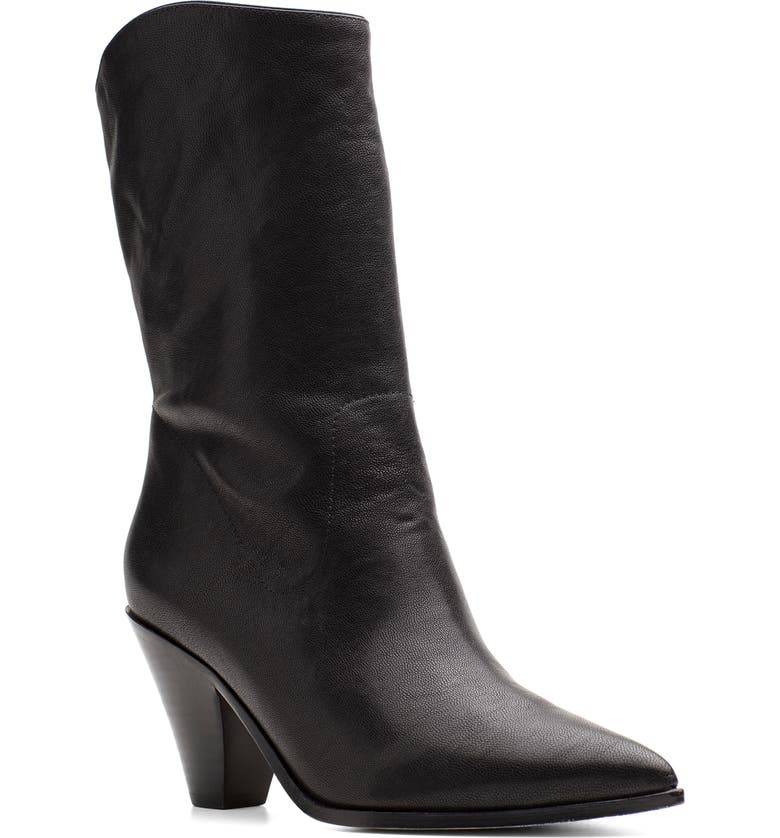PAIGE Landyn Pointed Toe Boot, Main, color, BLACK