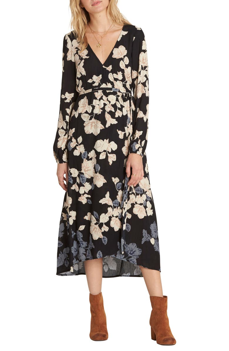 BILLABONG Floral Fever Midi Dress, Main, color, 001