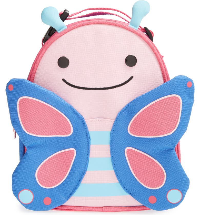 SKIP HOP Zoo Insulated Lunchbox, Main, color, PINK