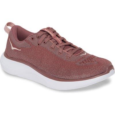 Hoka One One Hupana Flow Athletic Shoe, Burgundy