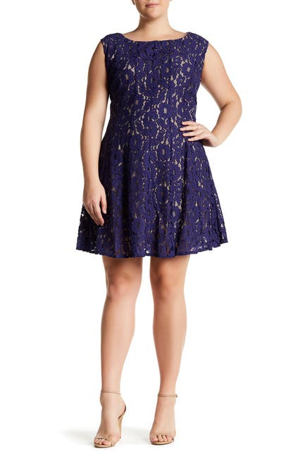 Image of Taylor Lace Fit and Flare Dress