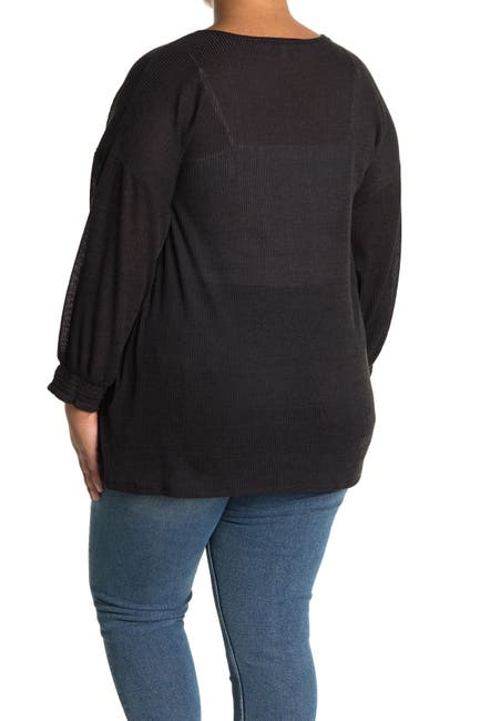 Image of Collective Concepts Ribbed Cardigan