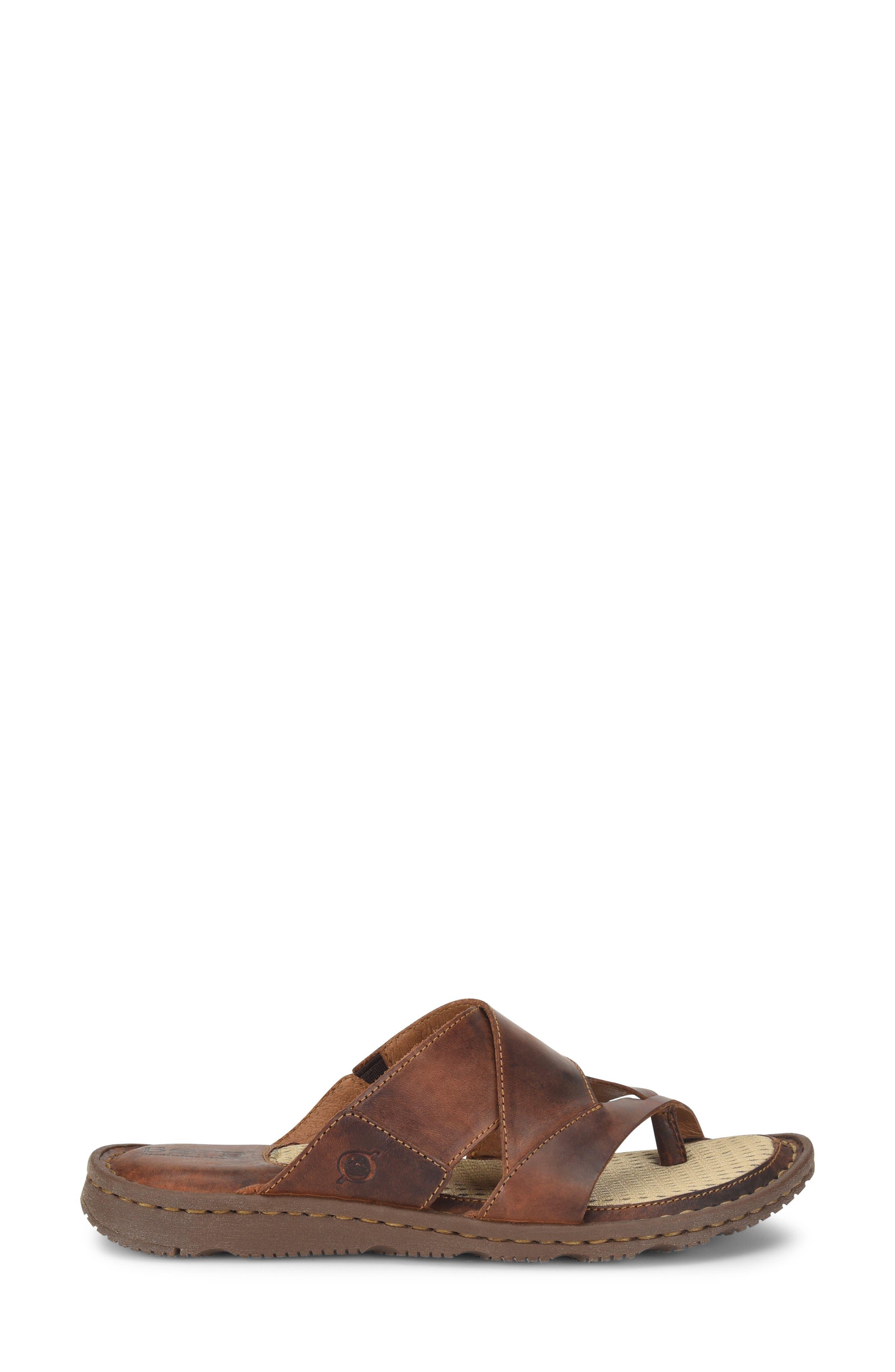 ,                             Sorja II Slide Sandal,                             Alternate thumbnail 3, color,                             BROWN LEATHER