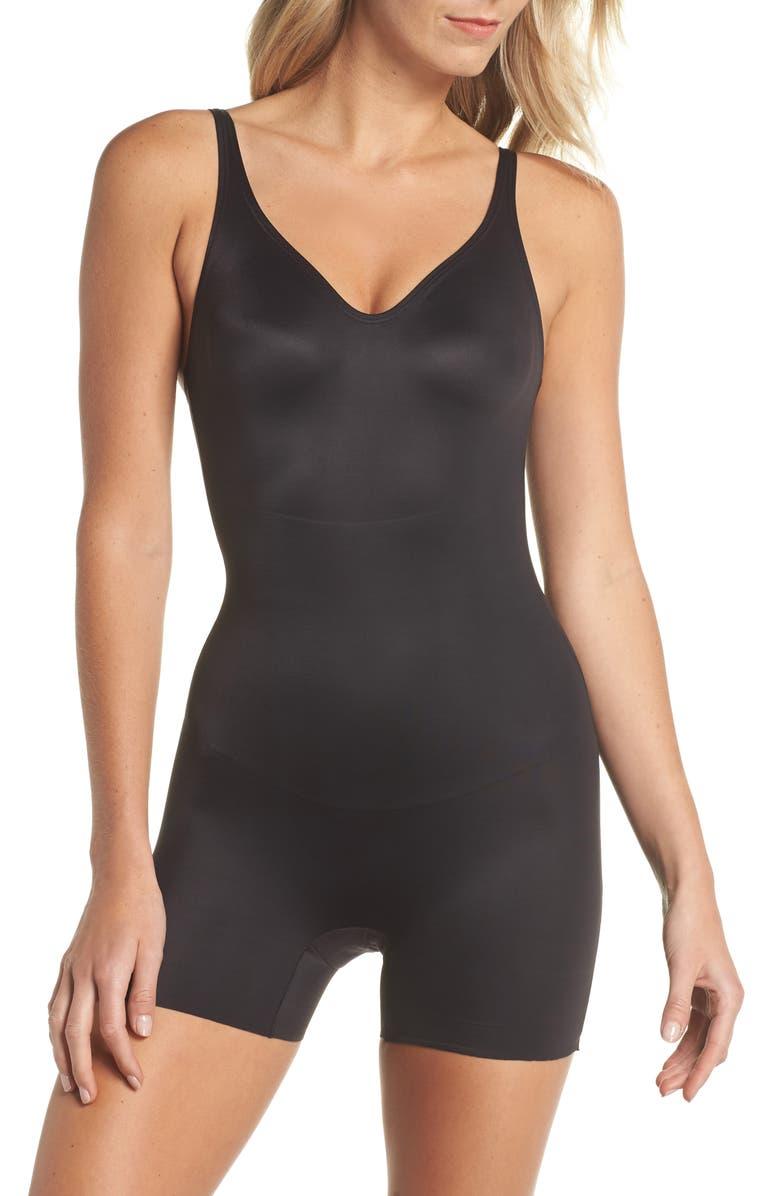 TC Mid Thigh Shaper Bodysuit, Main, color, 001