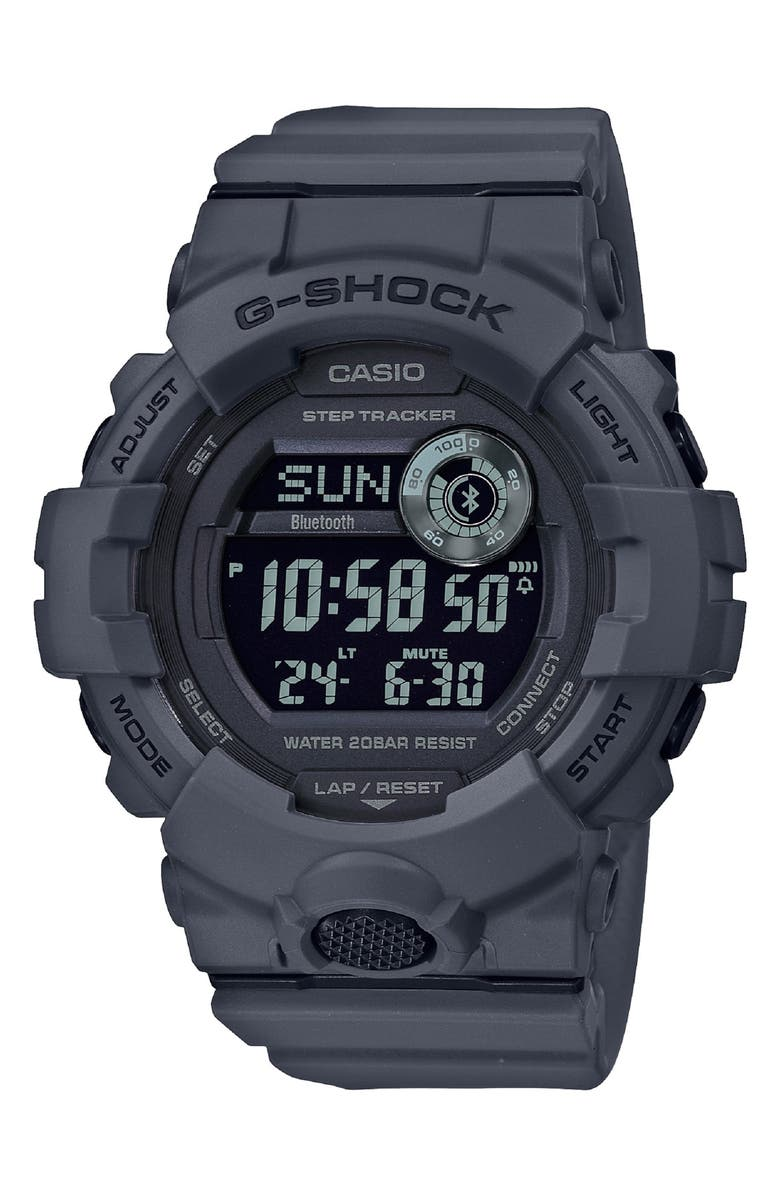 G-SHOCK BABY-G G-Shock Digital Resin Strap Watch, 49mm, Main, color, 020