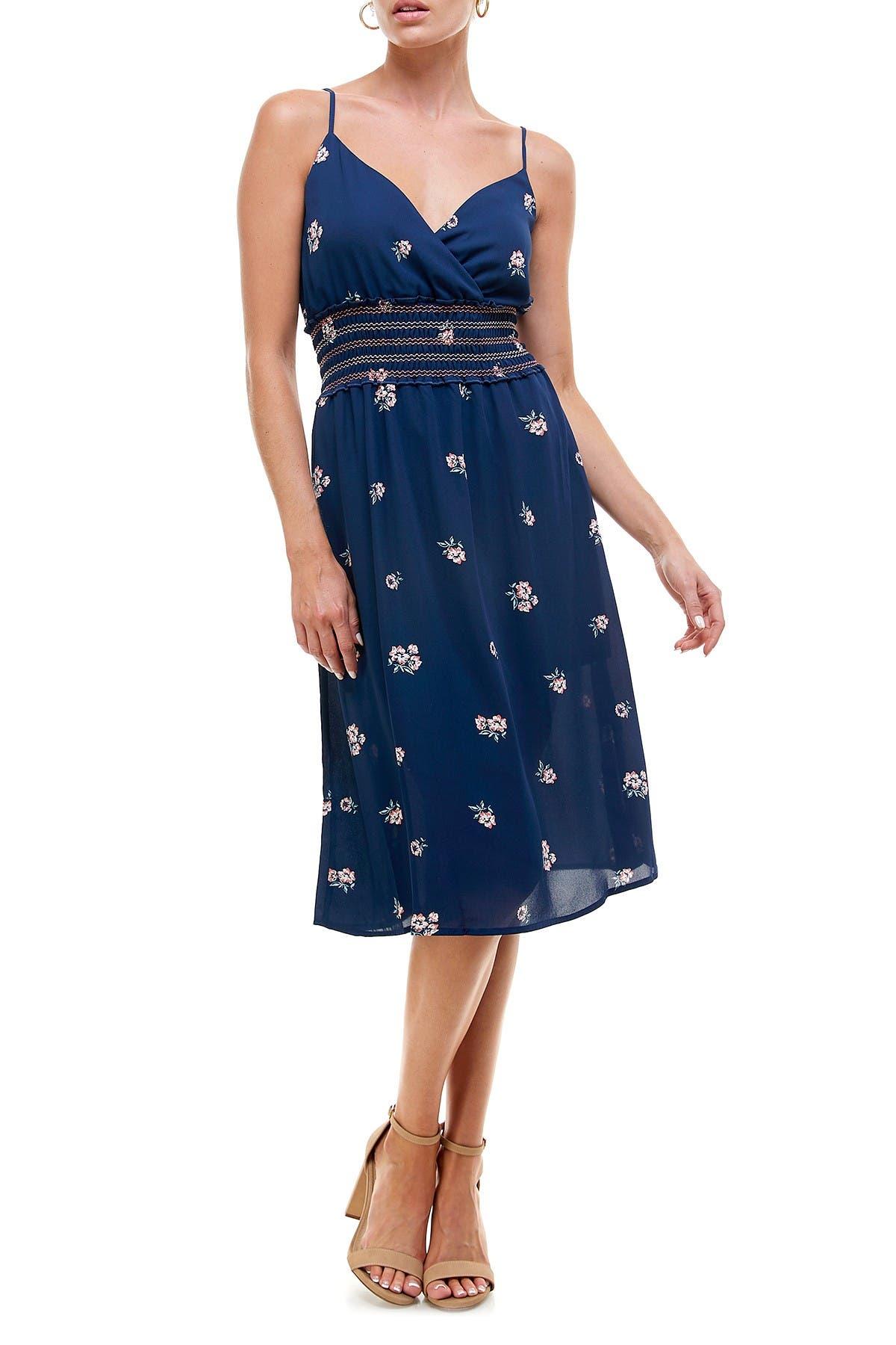 Image of ROW A Smocked Waist Midi Dress