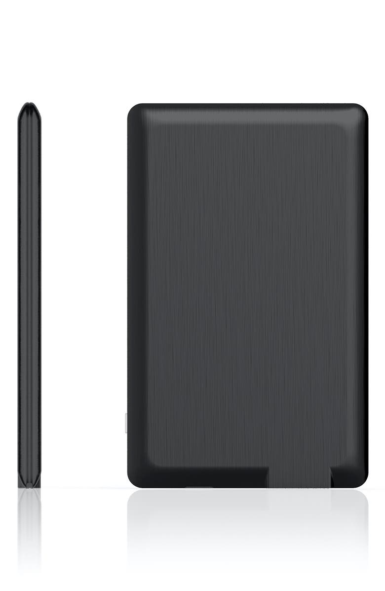 XOOPAR PowerCard Ultra Slim Universal Phone Power Bank, Main, color, BLACK