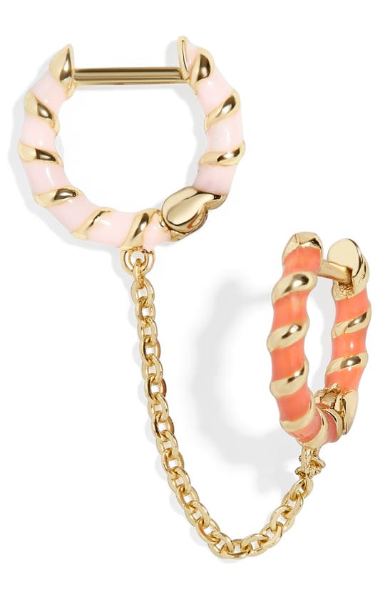 Baublebar Earrings ROSA 18K GOLD VERMEIL CHAINED HUGGIE EARRING