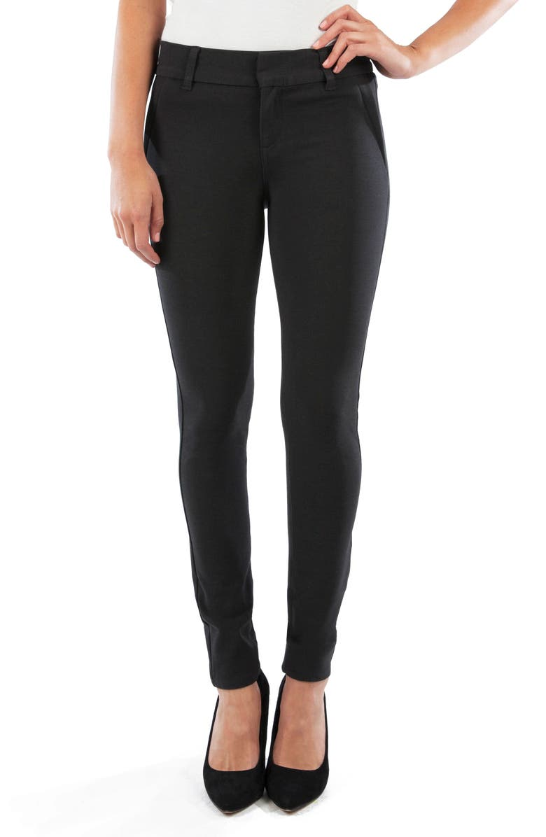 KUT FROM THE KLOTH Mia Ponte Ankle Pants, Main, color, CHARCOAL