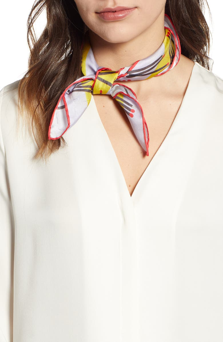 Kate Spade New York Matches Print Silk Scarf