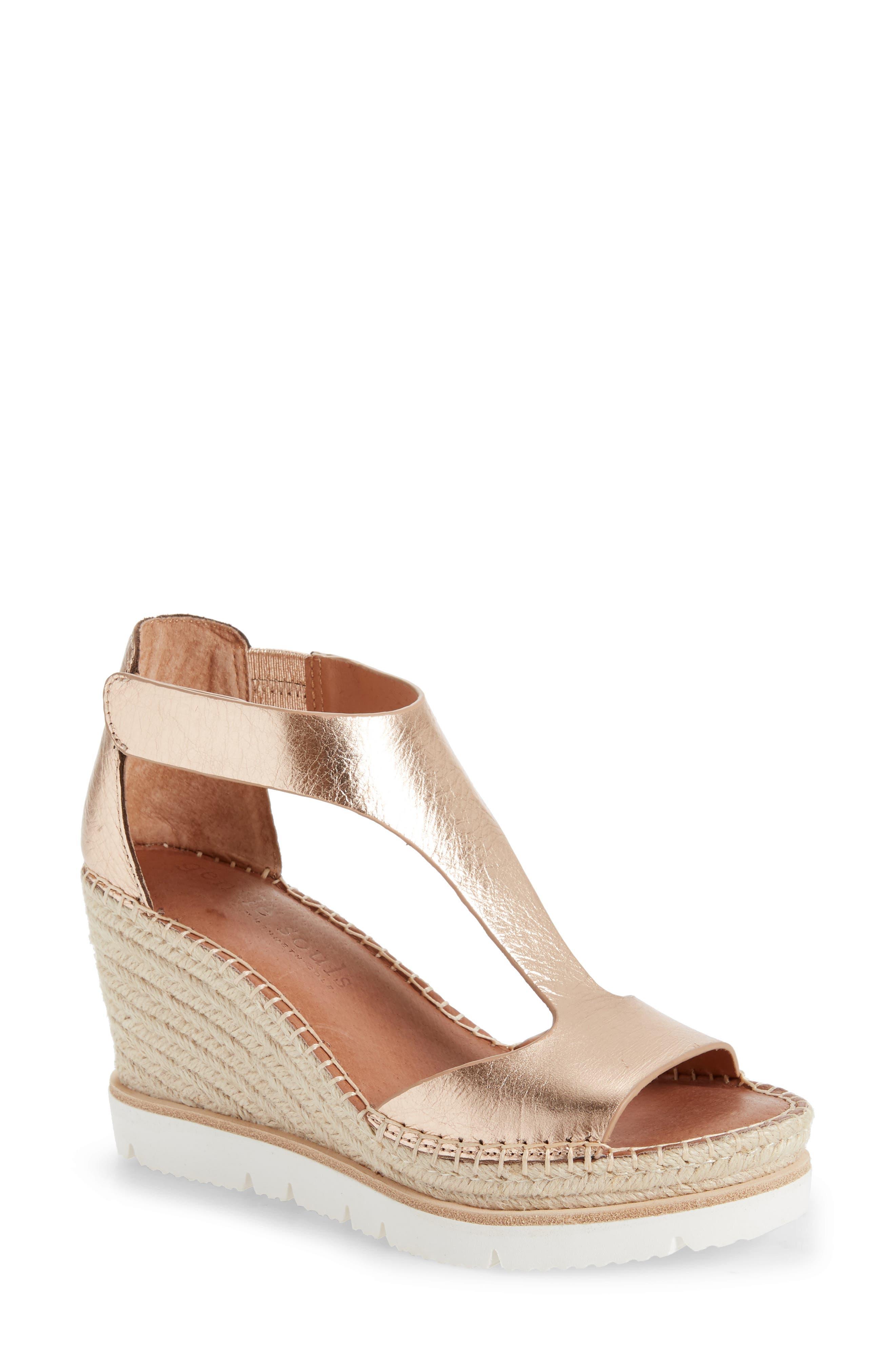 Elyssa T-Strap Wedge Sandal