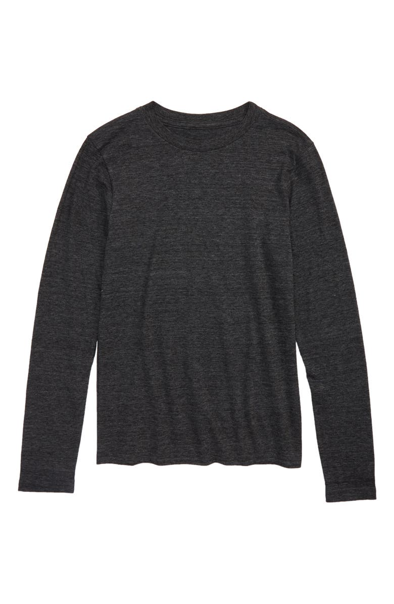 TUCKER + TATE Long Sleeve T-Shirt, Main, color, BLACK