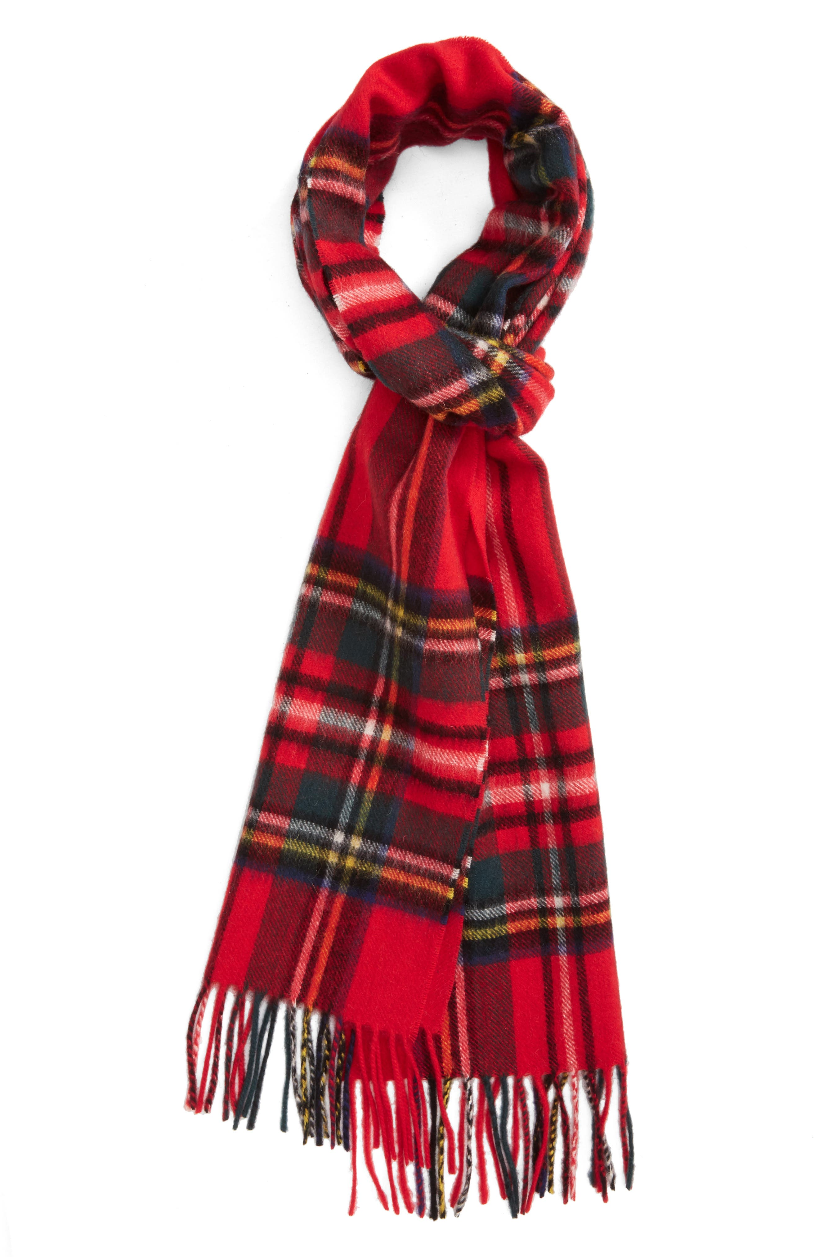 ,                             New Check Lambswool & Cashmere Scarf,                             Main thumbnail 17, color,                             630