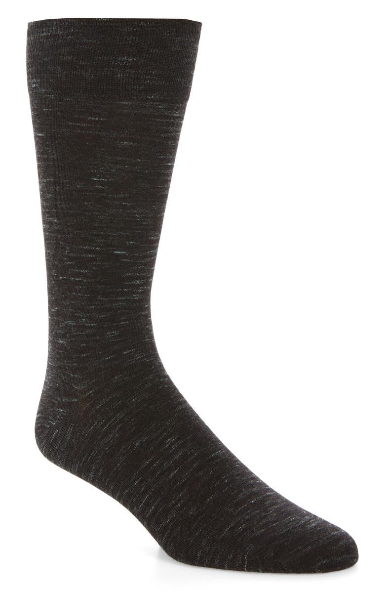 COLE HAAN Twist Socks, Main, color, BLACK