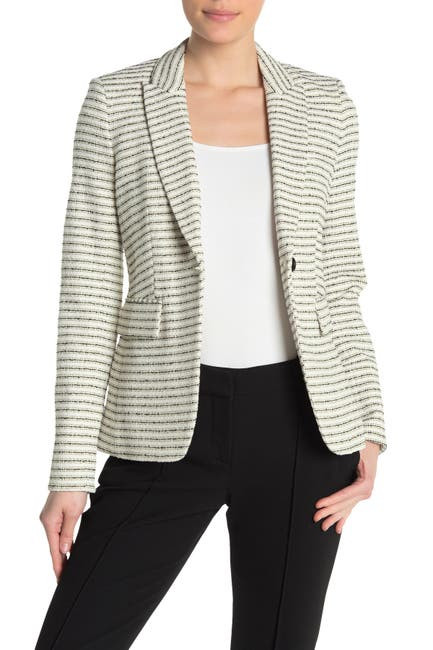 Image of VERONICA BEARD Cutaway Tweed Dickey Jacket