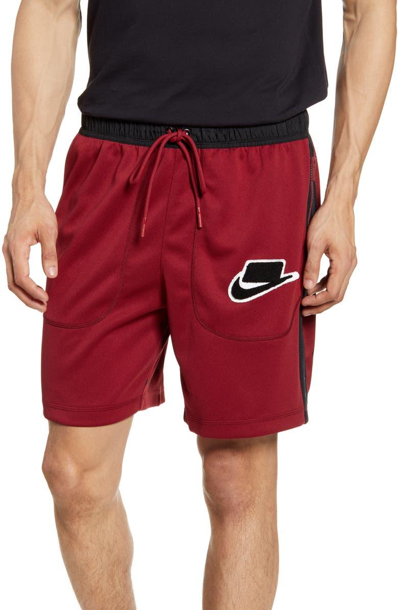 NIKE Sportswear Zip Pocket Athletic Shorts, Main, color, TEAM RED/ BLACK/ BLACK/ BLACK