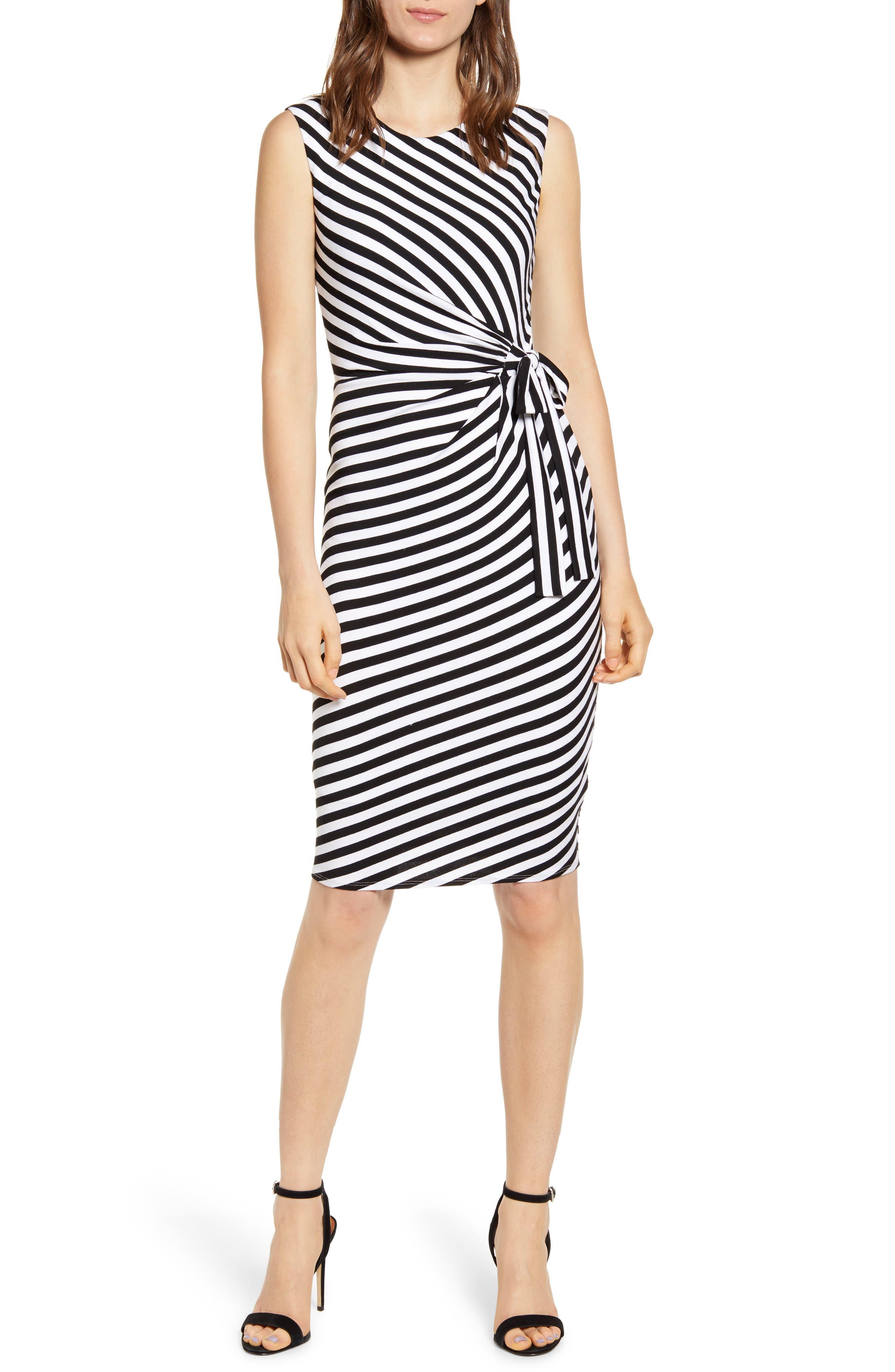 Bailey 44 Mandrill Stripe Body-Con Dress, Black