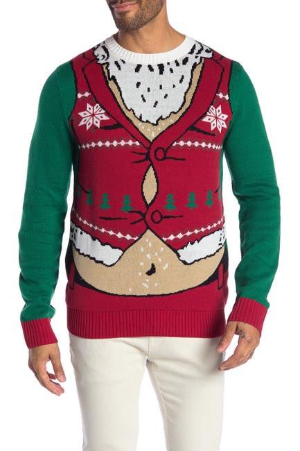 Image of Ugly Christmas Sweater Santa Christmas Sweater