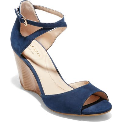 Cole Haan Sadie Grand Wedge Sandal, Blue