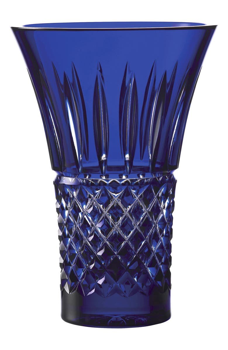 WATERFORD Treasures of the Sea Tramore Lead Crystal Vase, Main, color, BLUE
