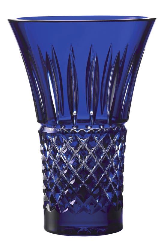 Waterford Treasures Of The Sea Tramore Lead Crystal Vase In Blue