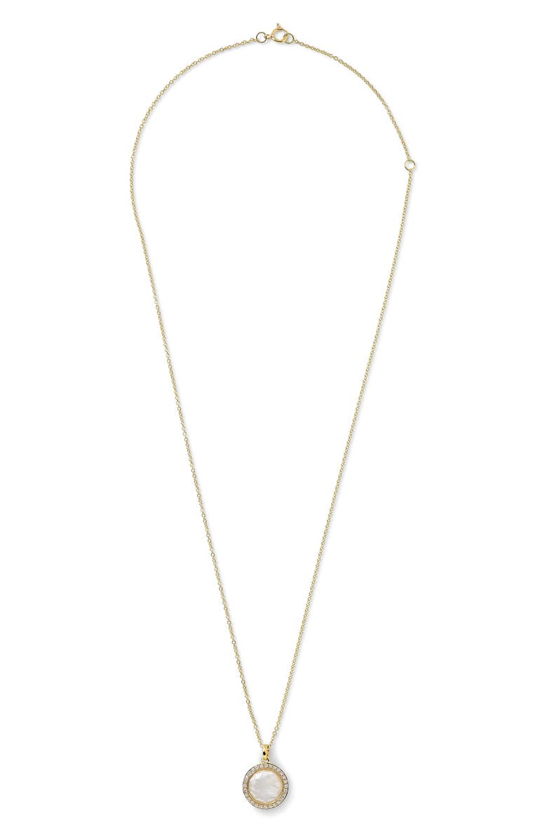 IPPOLITA Lollipop Mini Pendant Necklace, Main, color, GOLD/ PEARLS