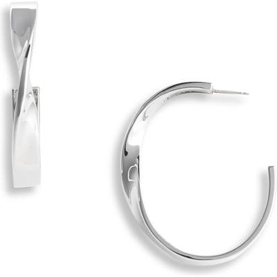 St. John Collection Large Twist Metal Hoop Earrings