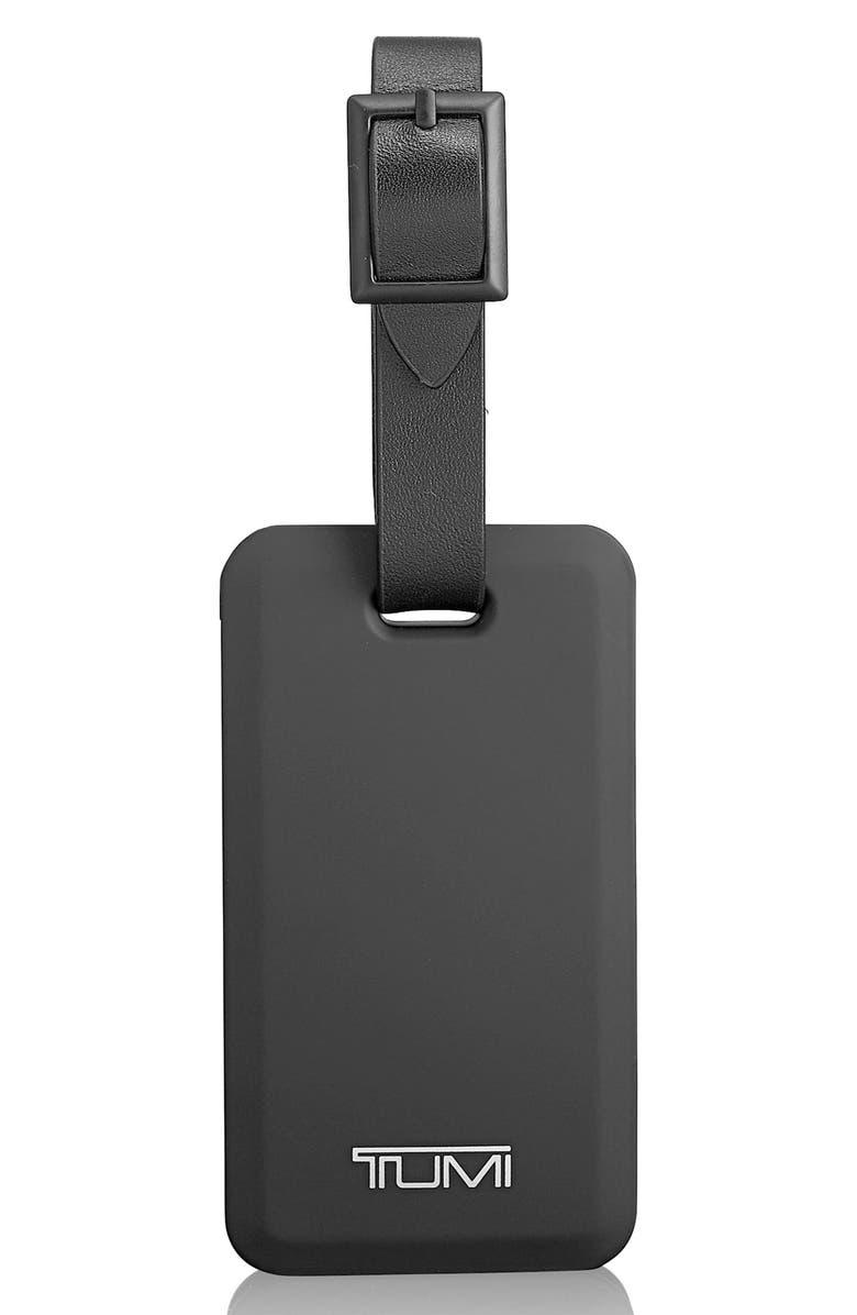 TUMI Luggage Tag Lightning Power Bank, Main, color, BLACK