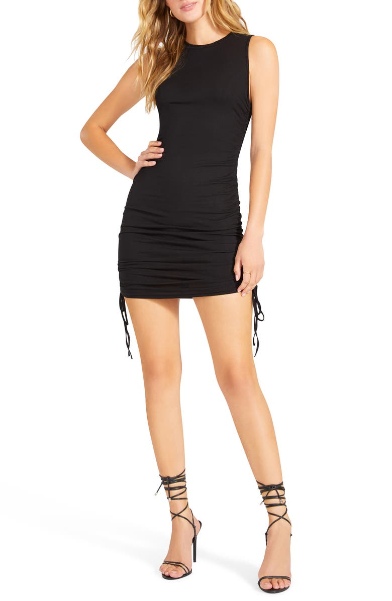 BB DAKOTA Sleeveless Minidress, Main, color, BLACK