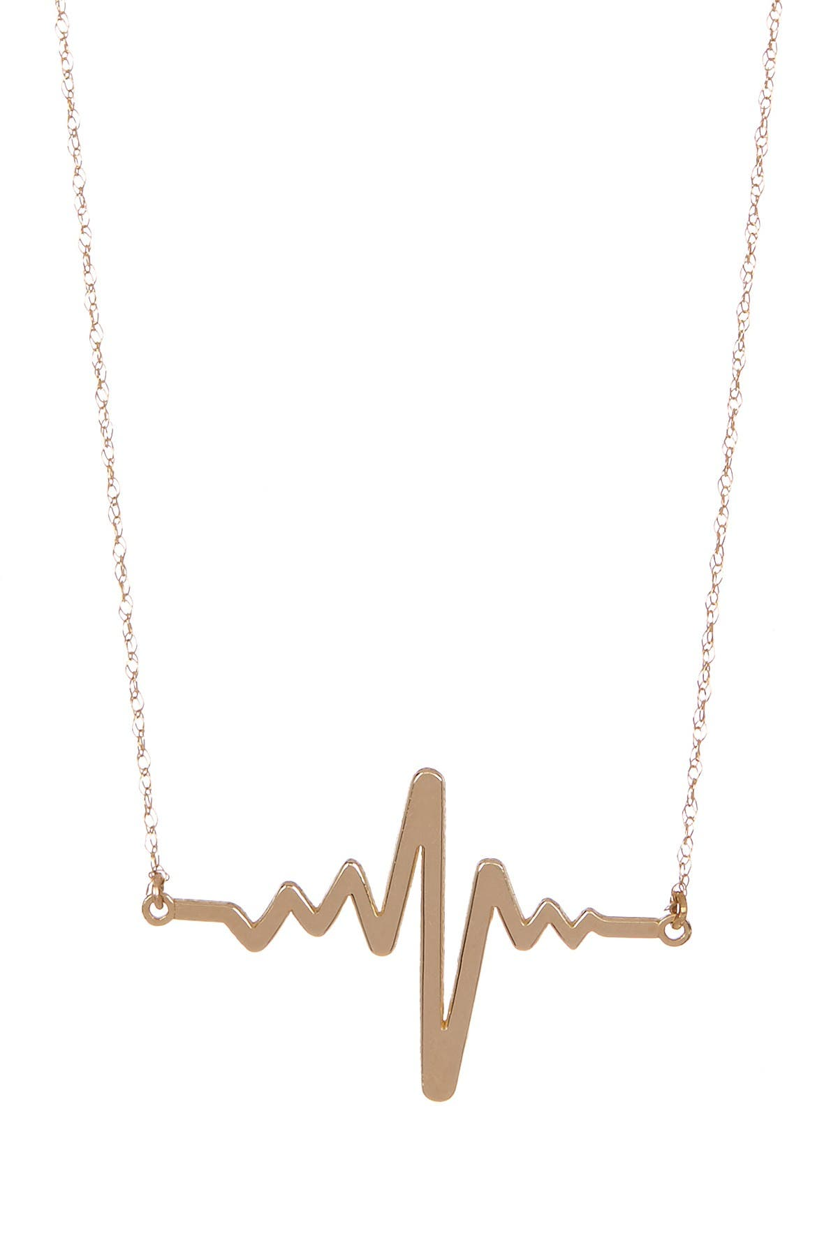Image of Candela 10K Yellow Gold Heartbeat Necklace