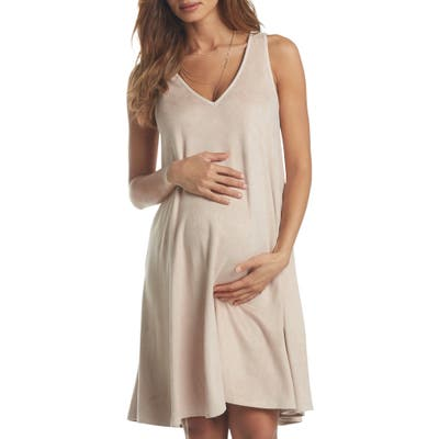 Tart Maternity Zandra Sueded Maternity Dress, Beige
