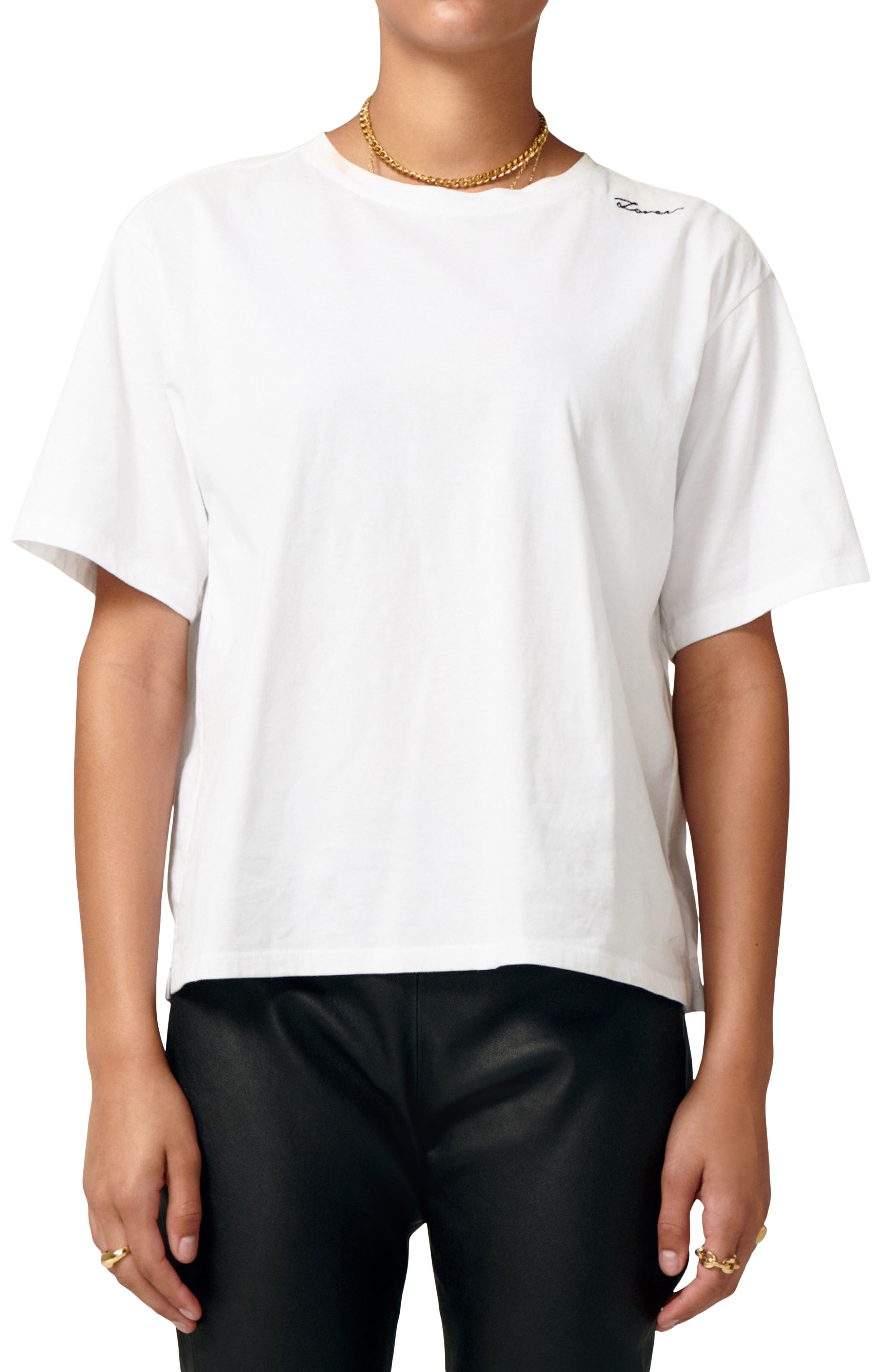 Forever Embroidered Cotton T-Shirt