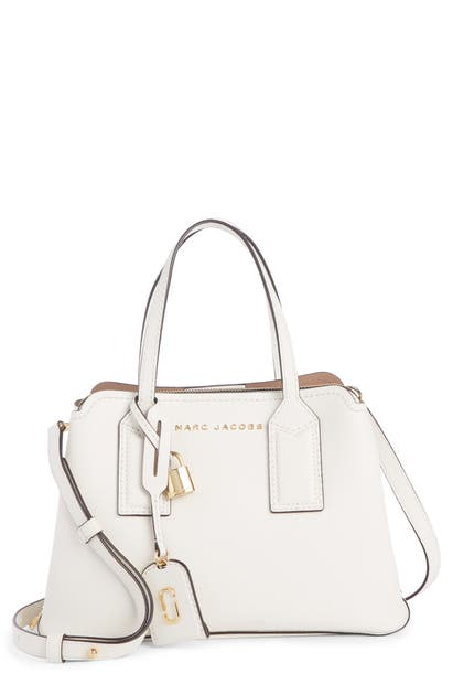 Marc Jacobs Crossbody THE EDITOR 29 LEATHER CROSSBODY BAG - WHITE