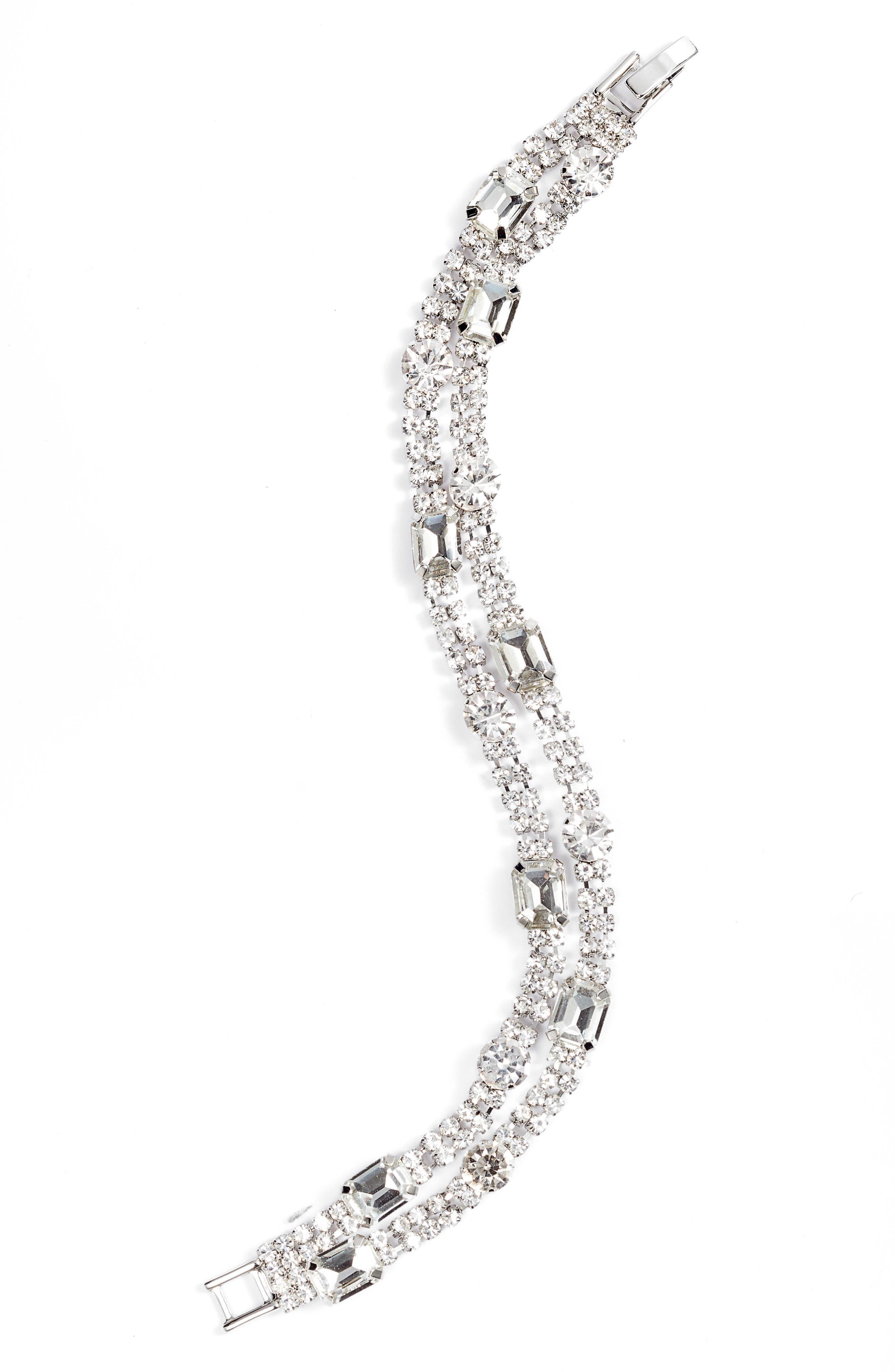 Crystal Two-Strand Bracelet