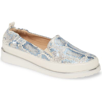 Ron White Nell Pitone Slip-On Sneaker - Blue