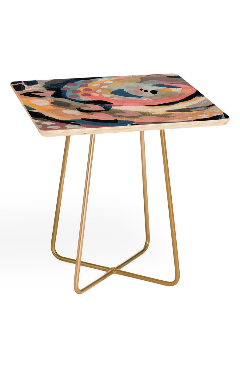 DENY DESIGNS Laura Fedorowicz Lover Side Table, Main, color, PINK