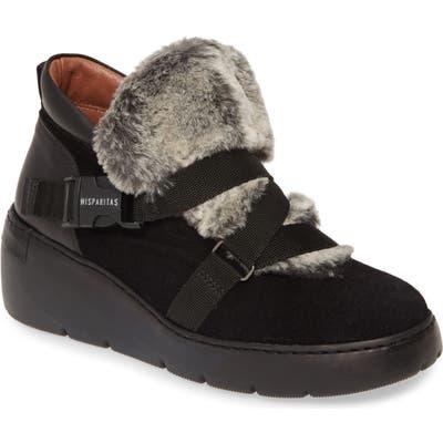 Hispanitas Bora Bora Faux Fur Sneaker - Black