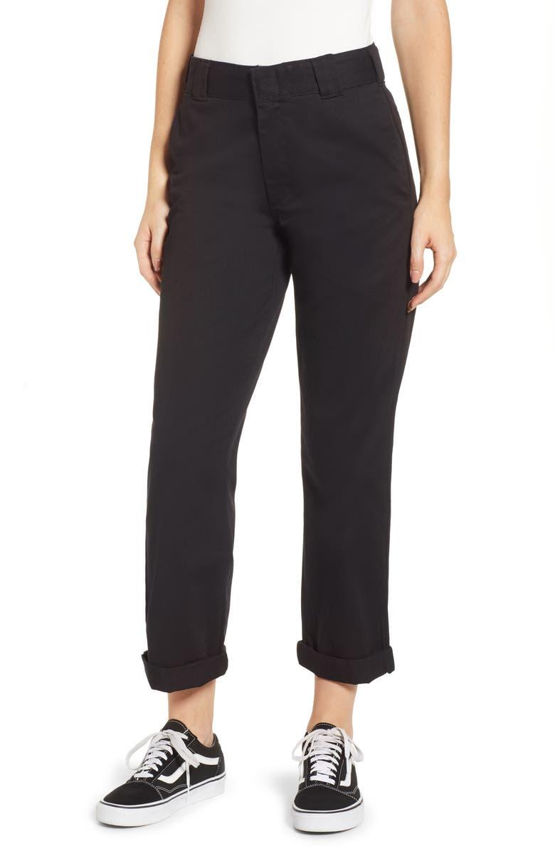 DICKIES Crop Work Pants, Main, color, 001