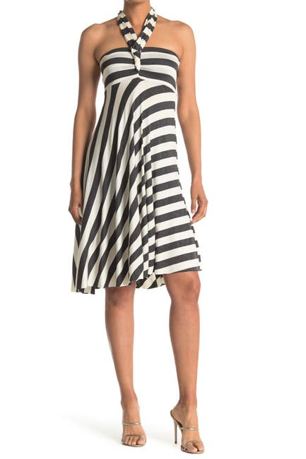 Image of ELAN Striped Convertible Cover-Up Dress
