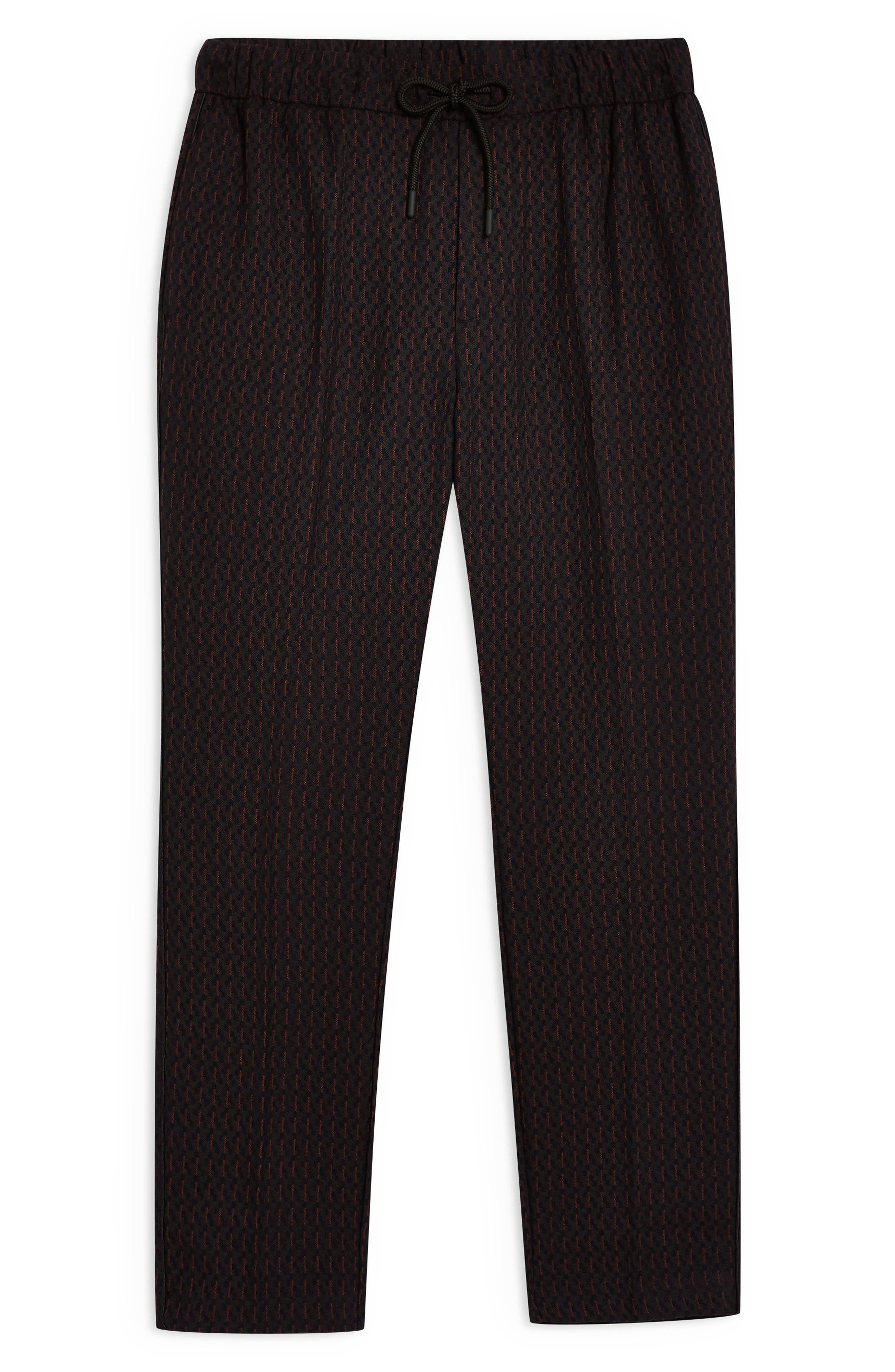 ,                             Pinstripe Crop Trousers,                             Alternate thumbnail 5, color,                             NAVY BLUE