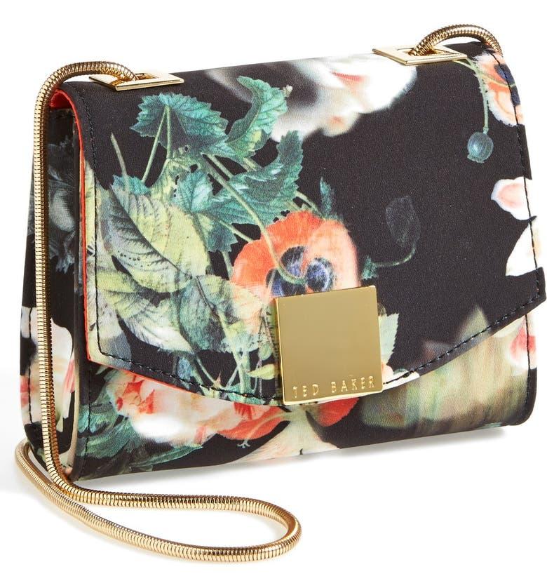 TED BAKER LONDON 'Opulent Bloom' Crossbody Bag, Main, color, 001