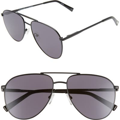 Le Specs Road Trip 5m Aviator Sunglasses - Matte Black/ Smoke