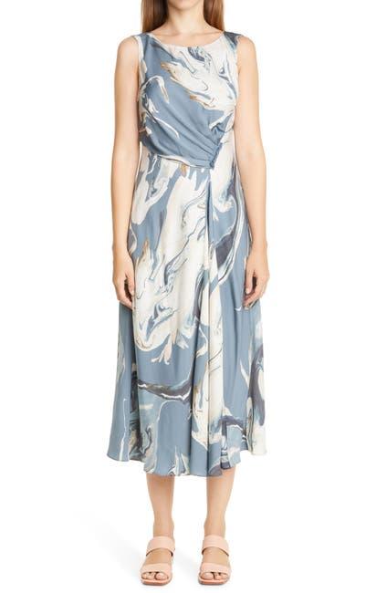 Image of Lafayette 148 New York Anita Marbled Midi Dress