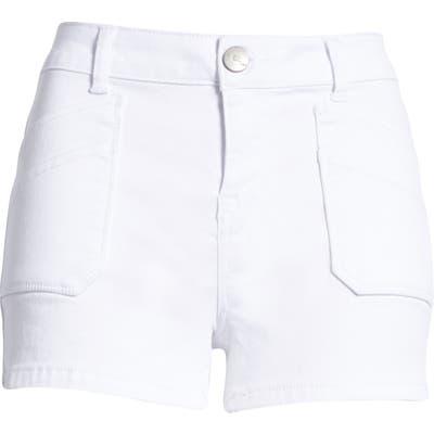 1822 Denim Butter High Waist Denim Shorts, White