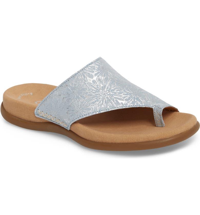 GABOR Sandal, Main, color, BLUE METALLIC LEATHER