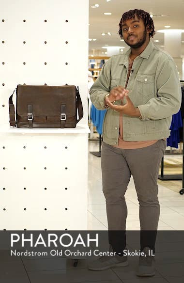 Oliver Leather Messenger Bag, sales video thumbnail