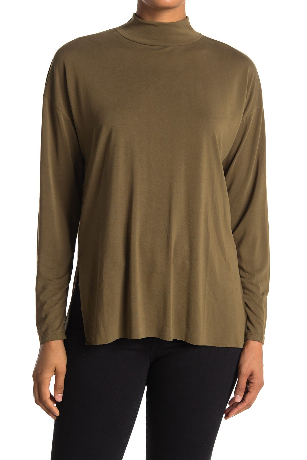 Image of Lush Mock Neck Long Sleeve Tunic Top