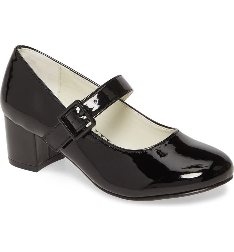 1901 Mary Jane Pump, Main, color, BLACK FAUX PATENT PU