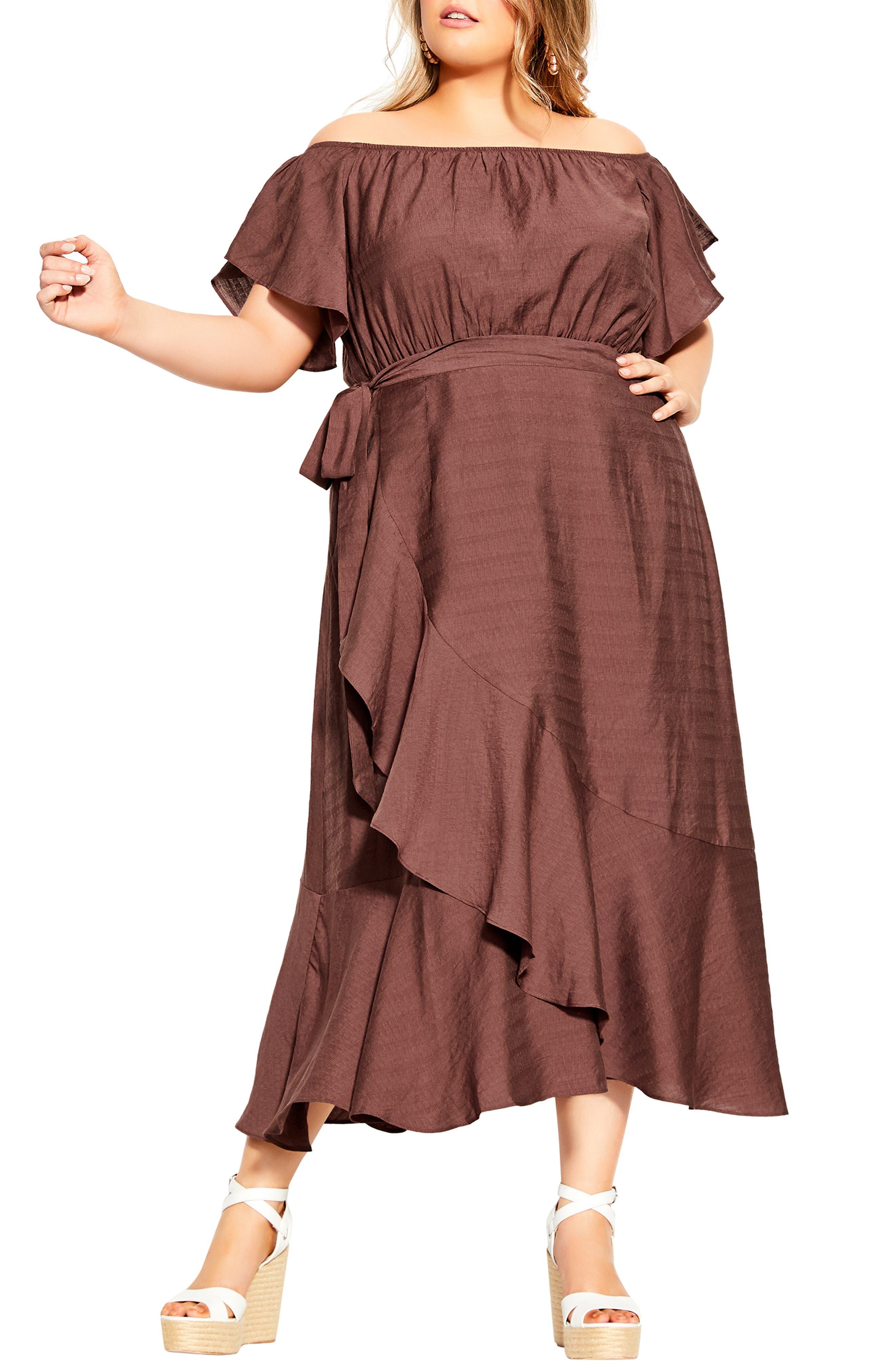 Inspiration Off The Shoulder Tiered Dress