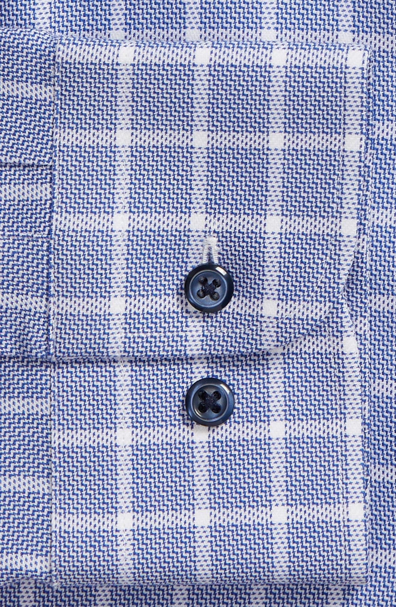 ,                             Tech-Smart Trim Fit Stretch Plaid Dress Shirt,                             Alternate thumbnail 6, color,                             410